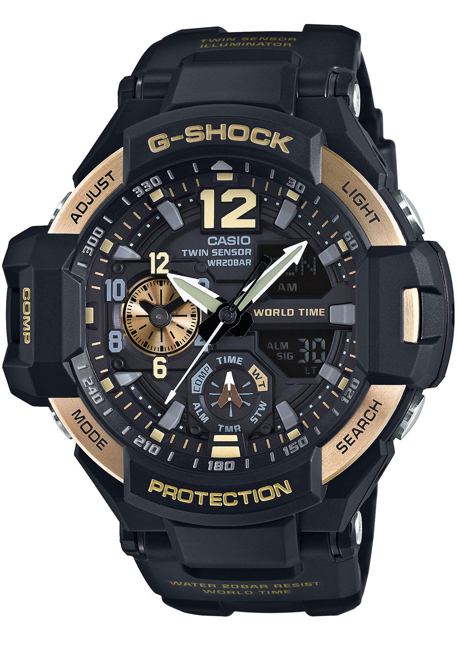 Gshock, Gravity master, pilot watches