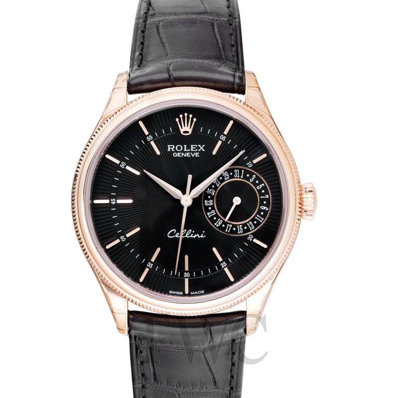 Rolex Cellini Date, Dress Watch, Guilloche, Elegant, Timepiece, Leather