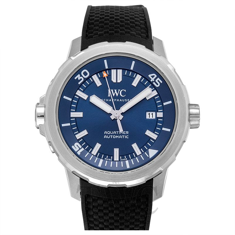 IWC Aquatimer, Dive Watch, Rubber Strap, Blue, Changeable