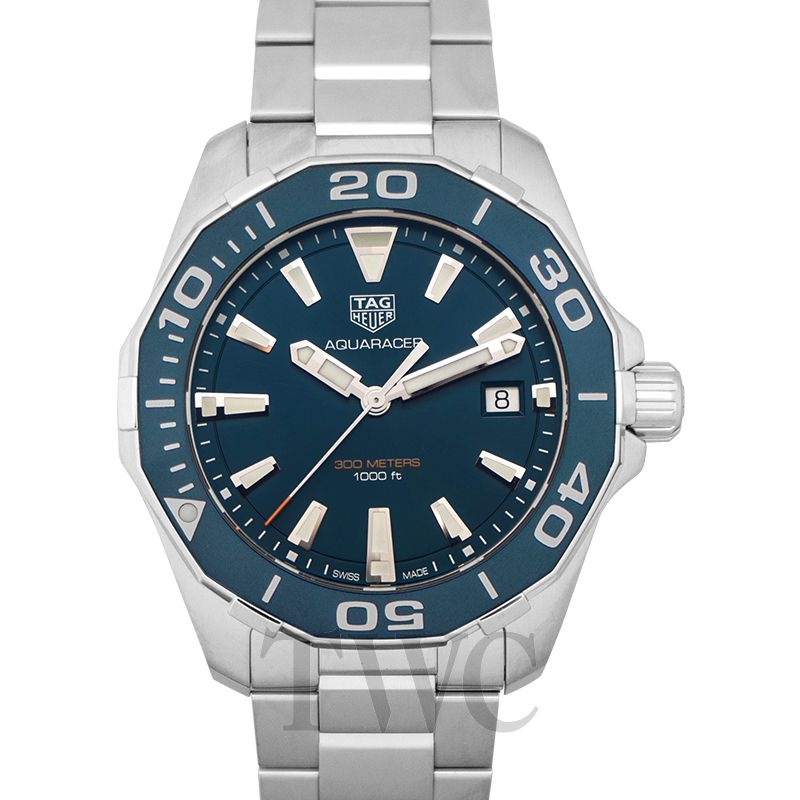 TAG Heuer Aquaracer, Round, Ceramic, Polished, Dive Watch, Steel, Blue Dial