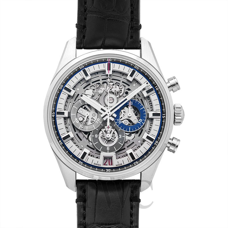 03.2081.400/78.C813 Zenith Chronomaster El Primero, Iconic Zenith Watch, Stainless Steel Case, Open-worked Dial