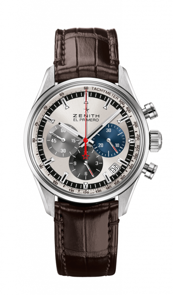 03.2150.400/69.C713 Zenith El Primero Original 1969, Silver Watch, Chronograph, Classic Watch, Leather Watch