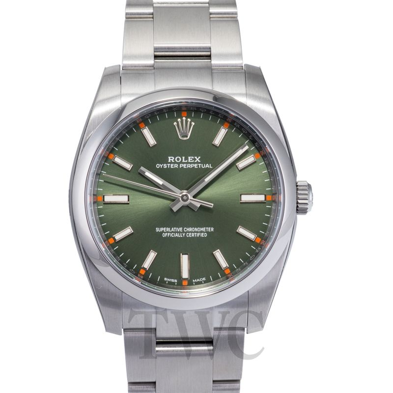 Rolex Oyster Perpetual, Cost, Green, Silver, Steel