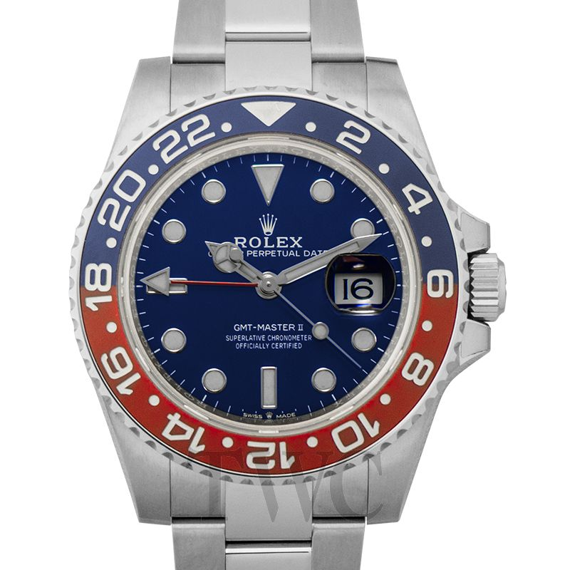GMT Master II, Blue And Red Dial, Automatic Watch, Steel Watch, Special Watch