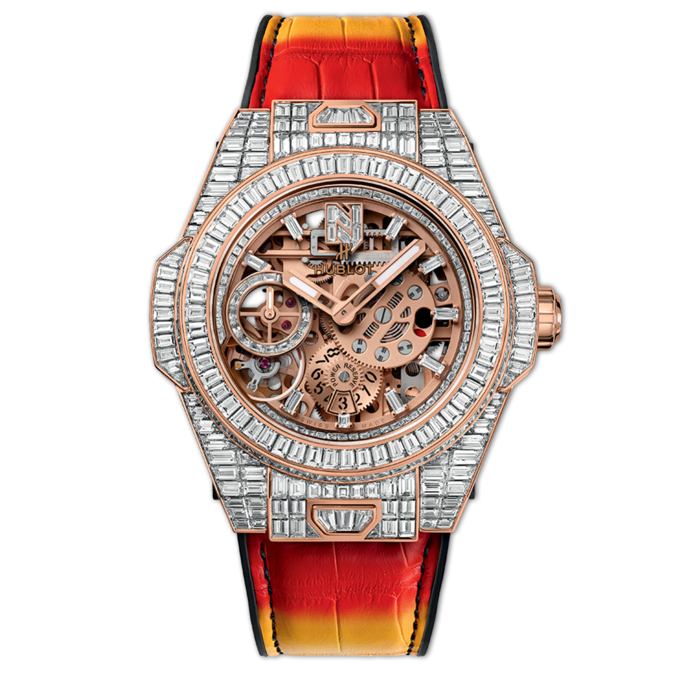 "Hublot Meca-10 ""Nicky Jam"" King Gold, Diamonds, Luxury Watch, Swiss Watch, Skeleton Watch"