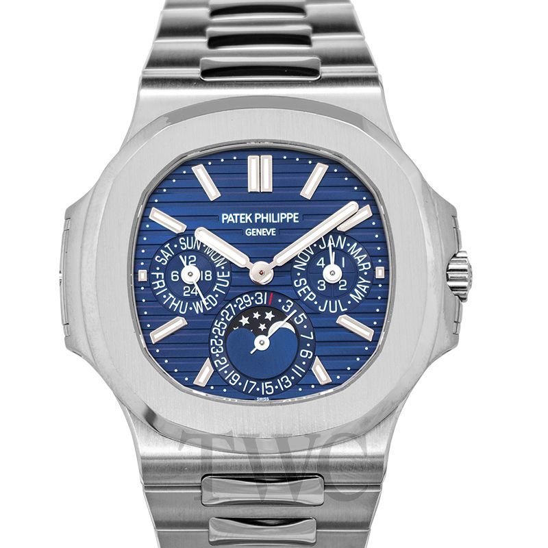 Patek Philippe, Automatic Watches, Blue Dial, Steel Construction, Luxury Watch
