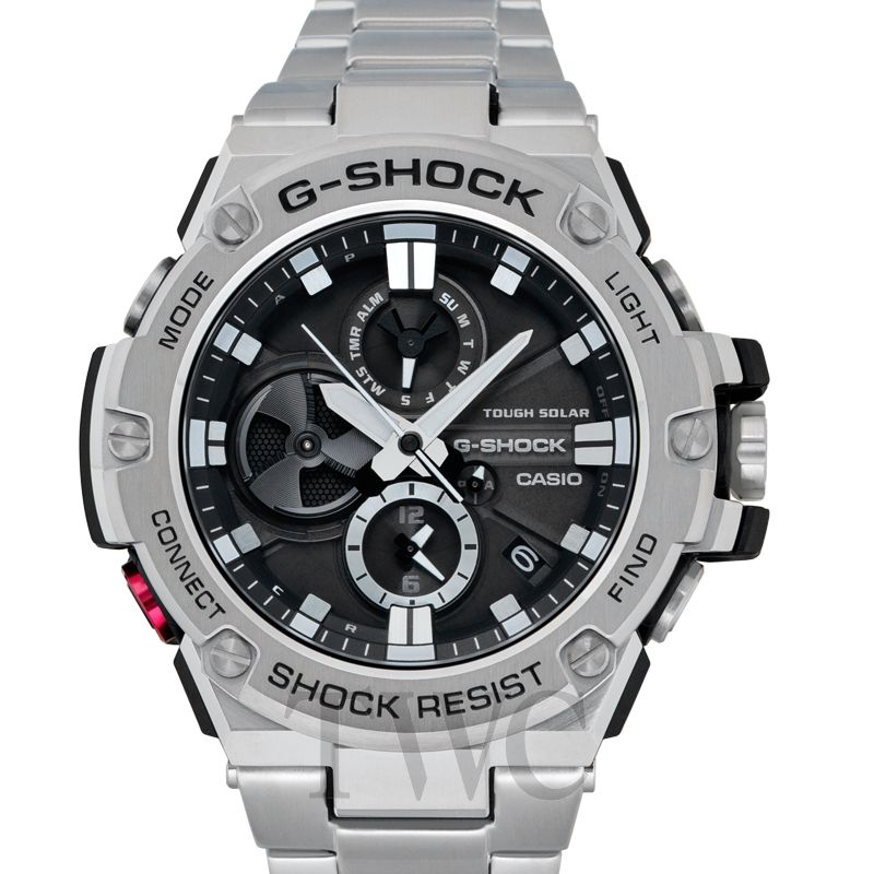 Casio G-Shock G-Steel l Tough Solar, Silver Watch, Shock-resistant Watch, Modern Watch