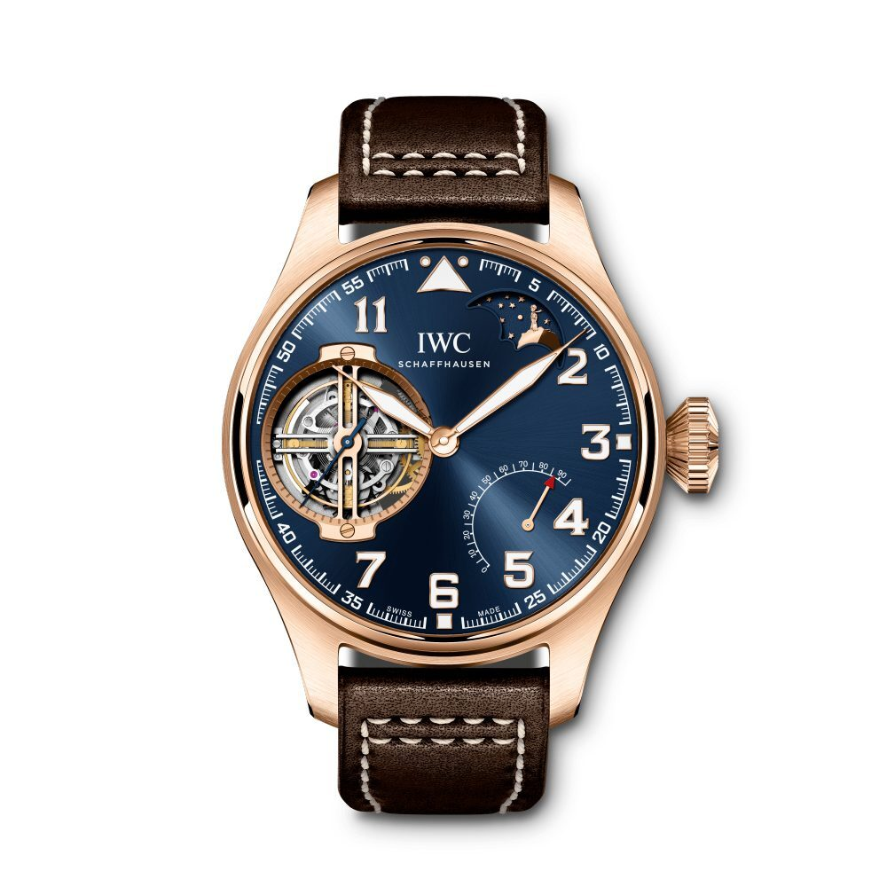 """IWC Watches, Swiss Watch, IWC """"Le Petit Prince"""" Constant-Force Tourbillon Pilot's Watch, Blue Dial, Luxury Watch"""
