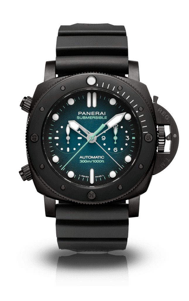 Panerai Submersible Chrono Guillaume Nery, Black, Diving Watch, Automatic Watch