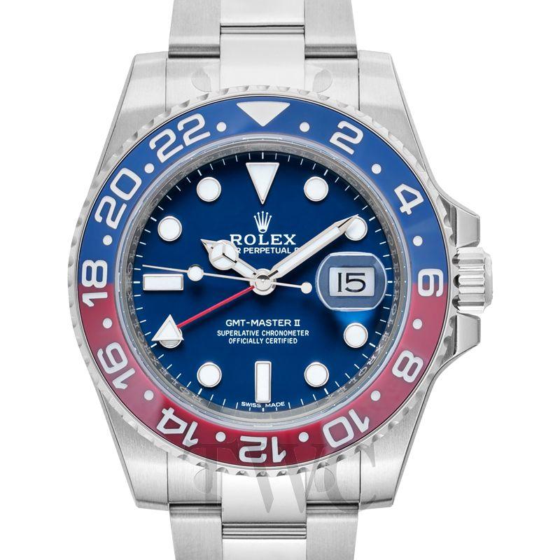 Rolex GMT-Master II, Mechanical Men's Watches, Date Display, Dual Colour Bezel