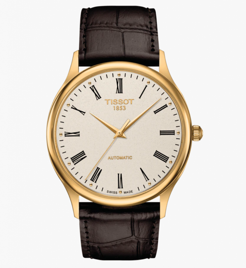 Tissot Excellence Automatic, Best Automatic Watches, Swiss Watch, Leather Watch, Gold Bezel