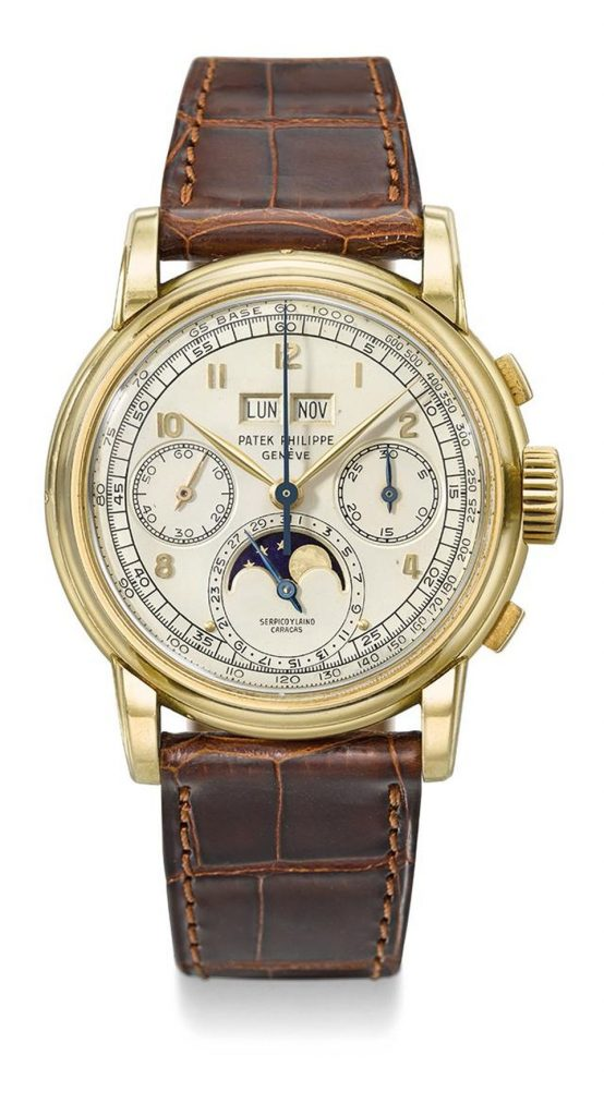 Patek 1957 Ref 2499, Gold Casing, Most Expensive Watches, Leather, Vintage Watch