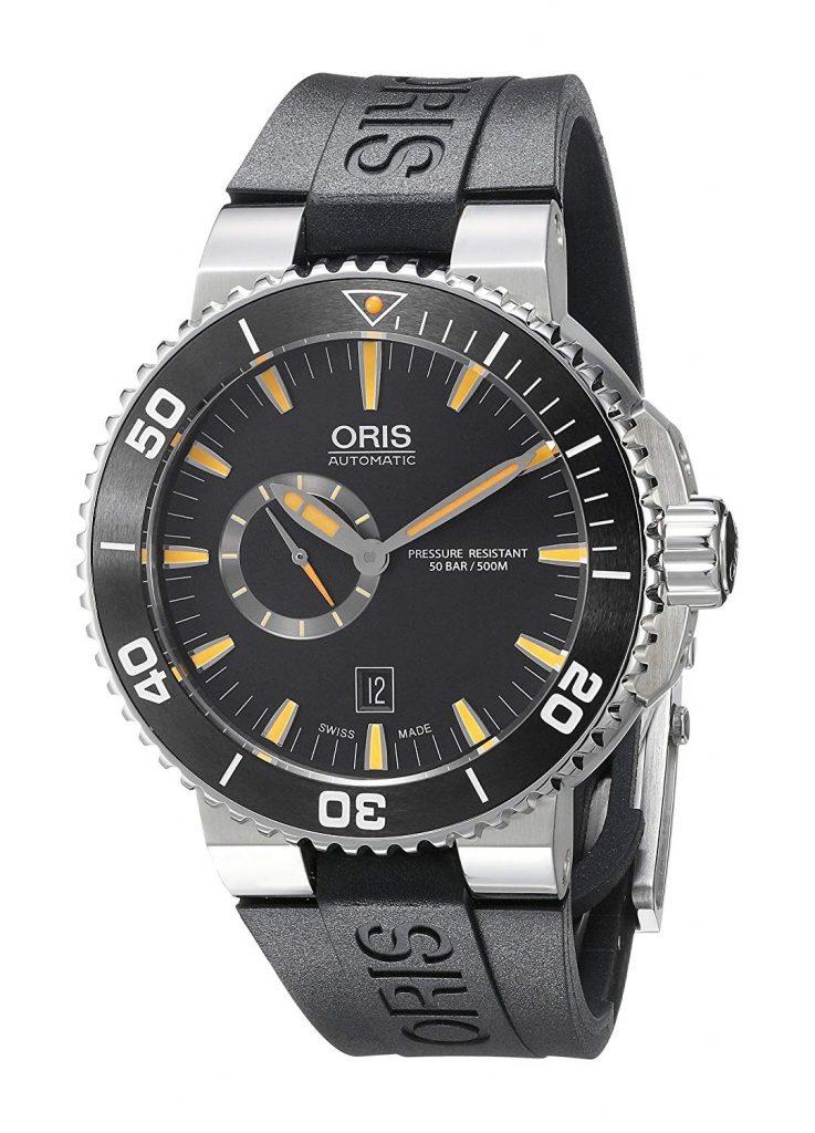 Oris Men's Aquis Analog Display, Steel, Oris, Clear, Grey, Black