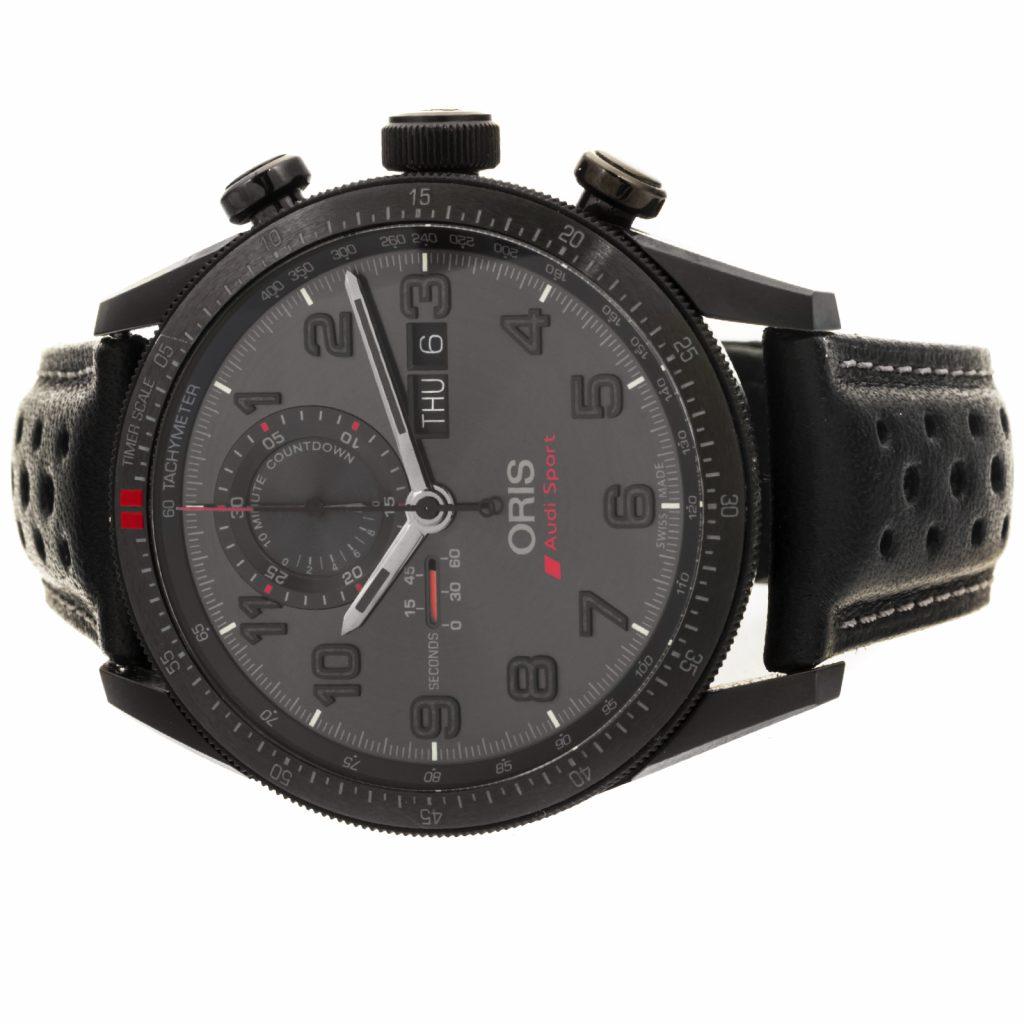 Oris Artix GT Audi Sport Chronograph Black Leather, Oris, Hand-stitched, Automatic, Water-resistant