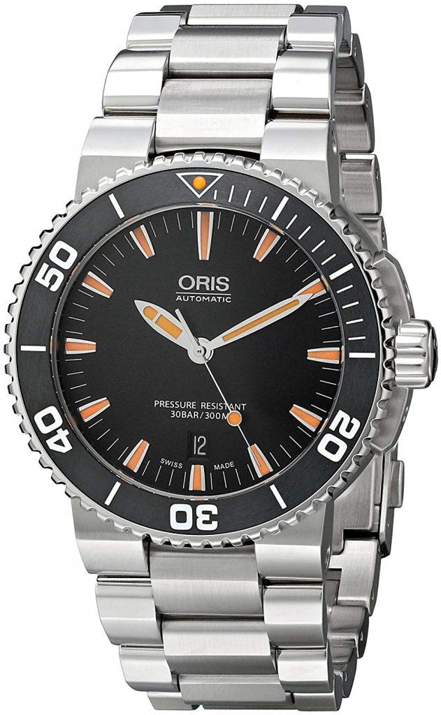 Oris Men's Analog Display Swiss Automatic Silver Watch, Oris, Steel, Light, Grey, Comfort