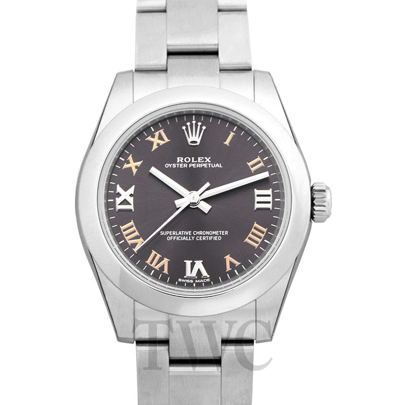 Lady Oyster Perpetual, Chronometer, Ladies Watch, Brown Face, Luxury Watch