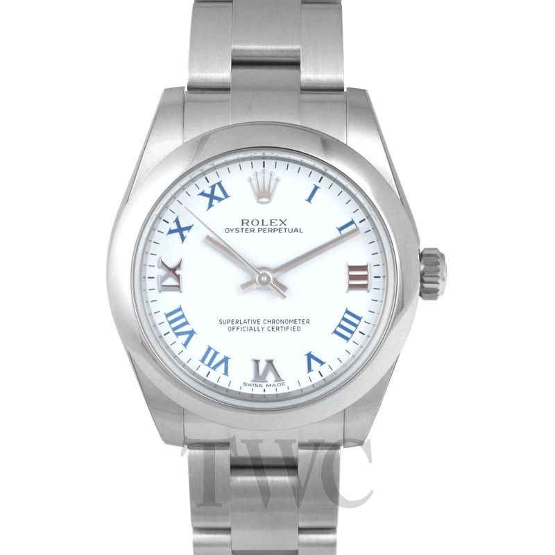 Lady Oyster Perpetual 31, White Face, Luxury Watch, Steel