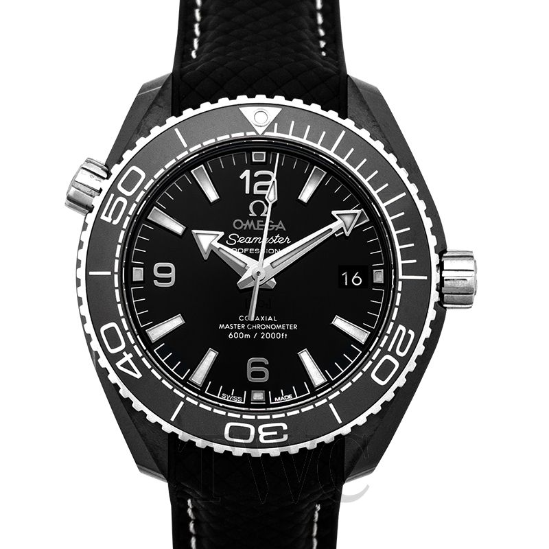 Omega Seamaster Planet Ocean 600M, Black Watch, Glossy, Ceramic, Dive Watch, Swimming Watch
