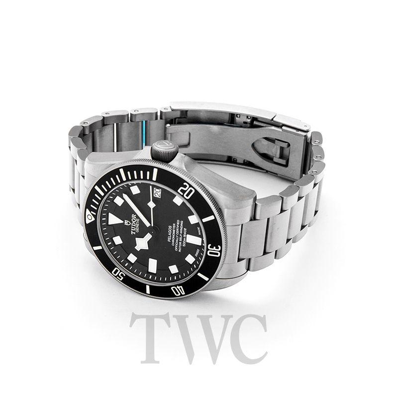 Tudor Pelagos Watch, Black Dial, Silver Watch, Steel Watch, Luxury Watch