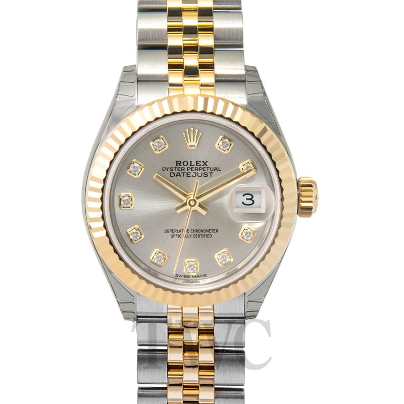 Lady Datejust 28, Rolex Oyster Perpetual, Gold Watch, Luxury Watch, Ladies Watch