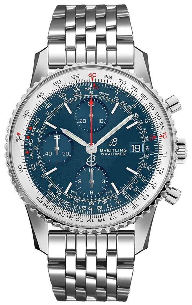 Breitling Navitimer Chronograph 41, Blue, Water-resistant, Steel, Self-winding