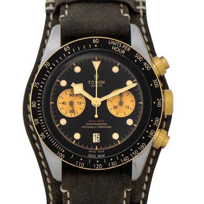 Tudor Black Bay Chrono, Chronograph Watch, Movement, Black Watch, Automatic Watch