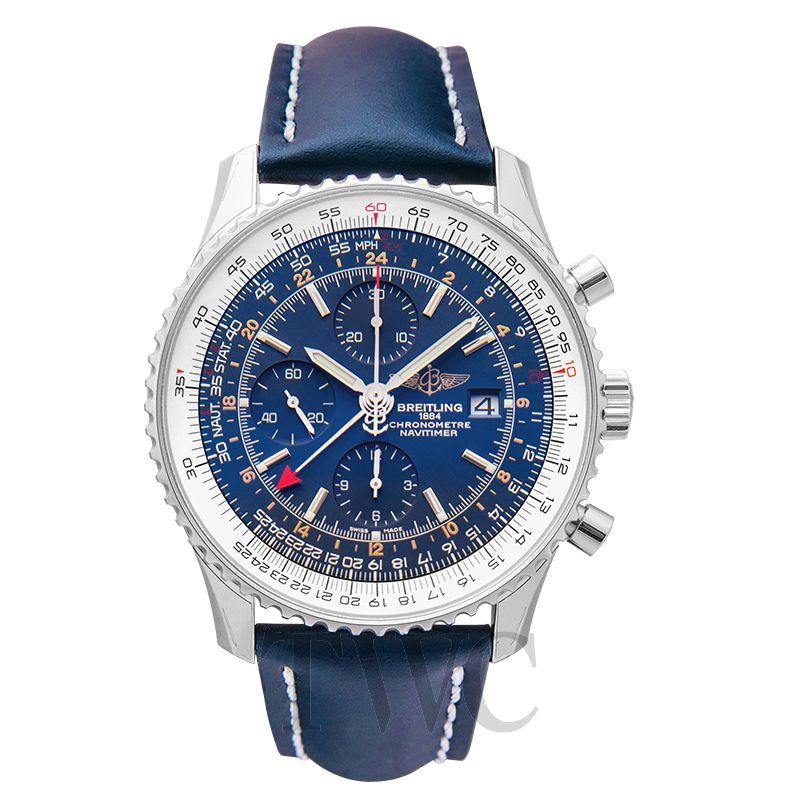 Breitling Navitimer Chronograph 46, Blue, Automatic, Chronometer, Navigation