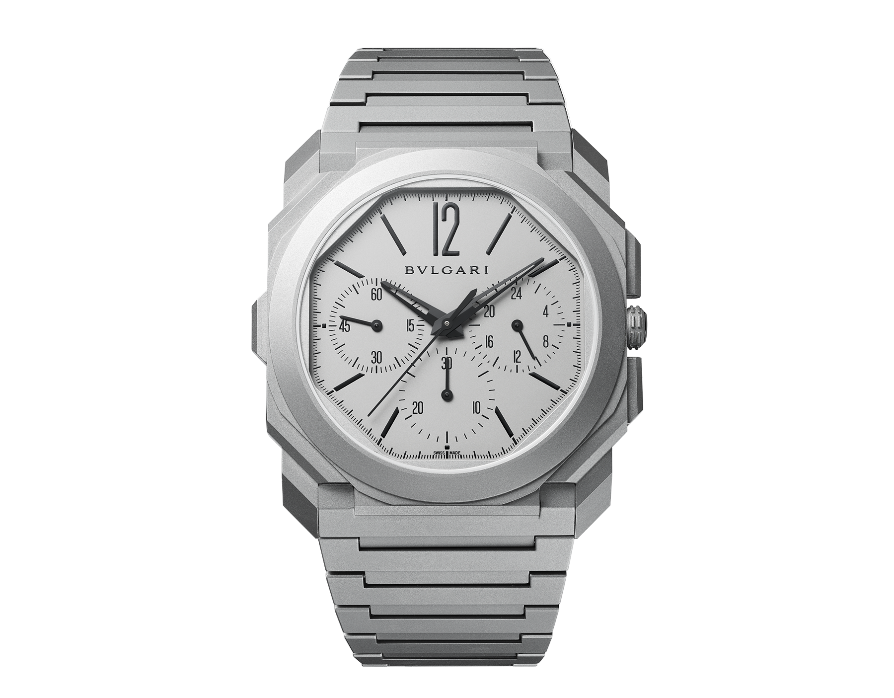 The Bulgari Octo Finissimo GMT Automatic, Chronograph Watches, Grey Design, Three Subdials, Swiss Watch