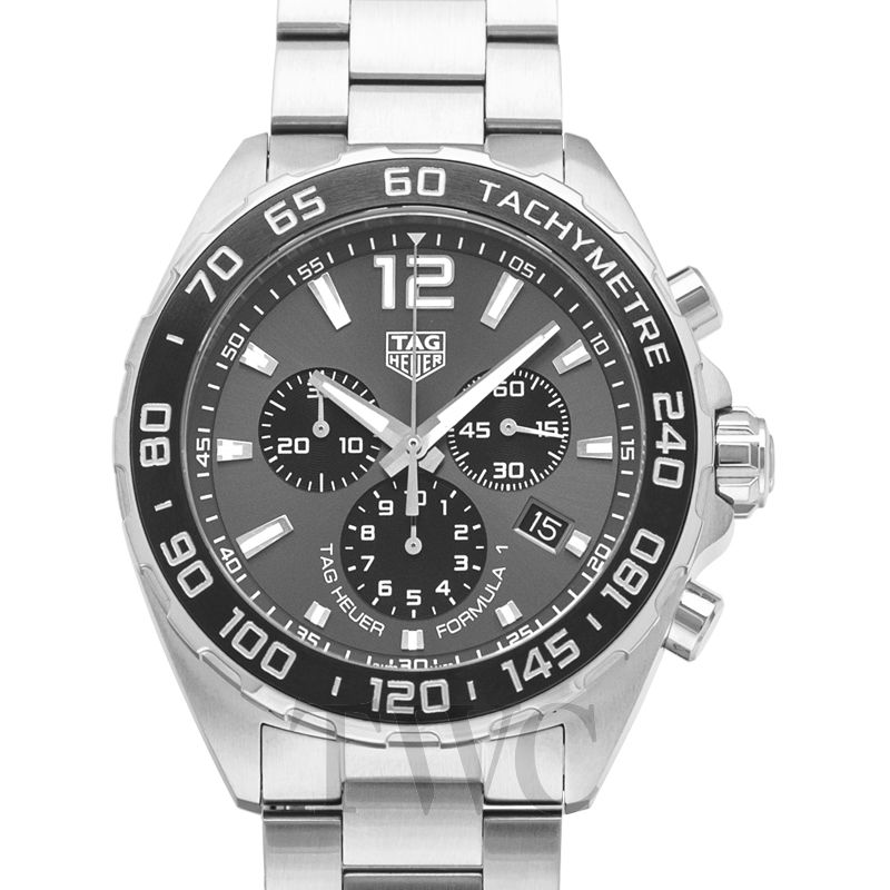 Tag Heuer Formula 1 Chronograph in Silver & Black, Tag Heuer Formula 1 Watches, Date Display, Automatic Watch, Swiss Watch
