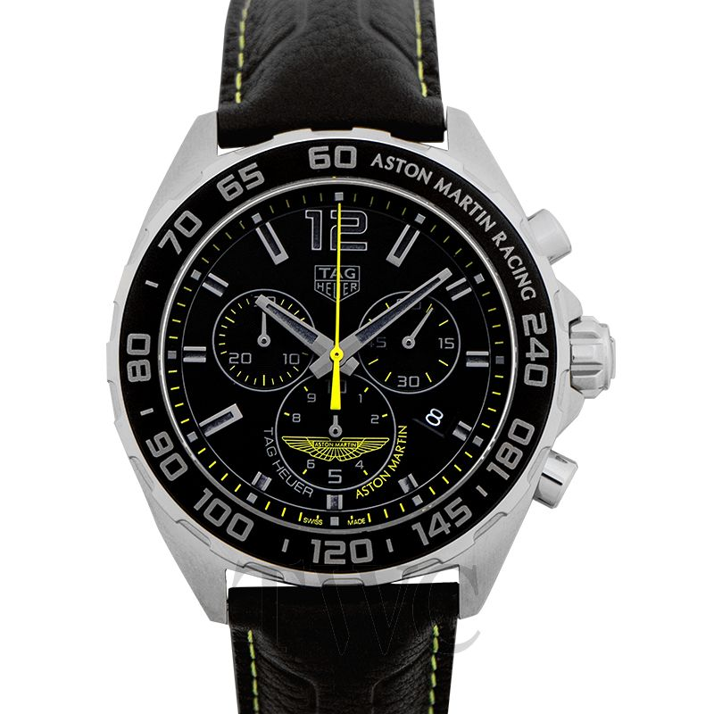 Tag Heuer Formula 1 Aston Martin Special Edition, Tag Heuer Formula 1 Watches, Black Strap, Swiss Watch, Automatic Watch