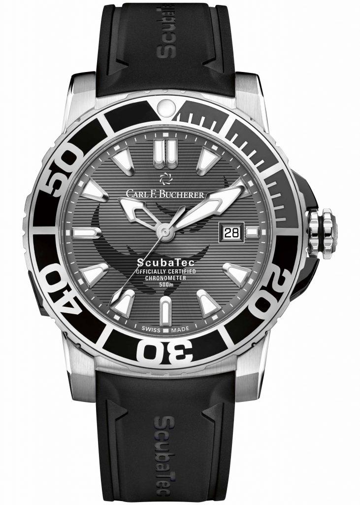 Carl F. Bucherer Patravi ScubaTec Manta Trust, Stainless Steel Case, Black Strap, Water-resistant Watch