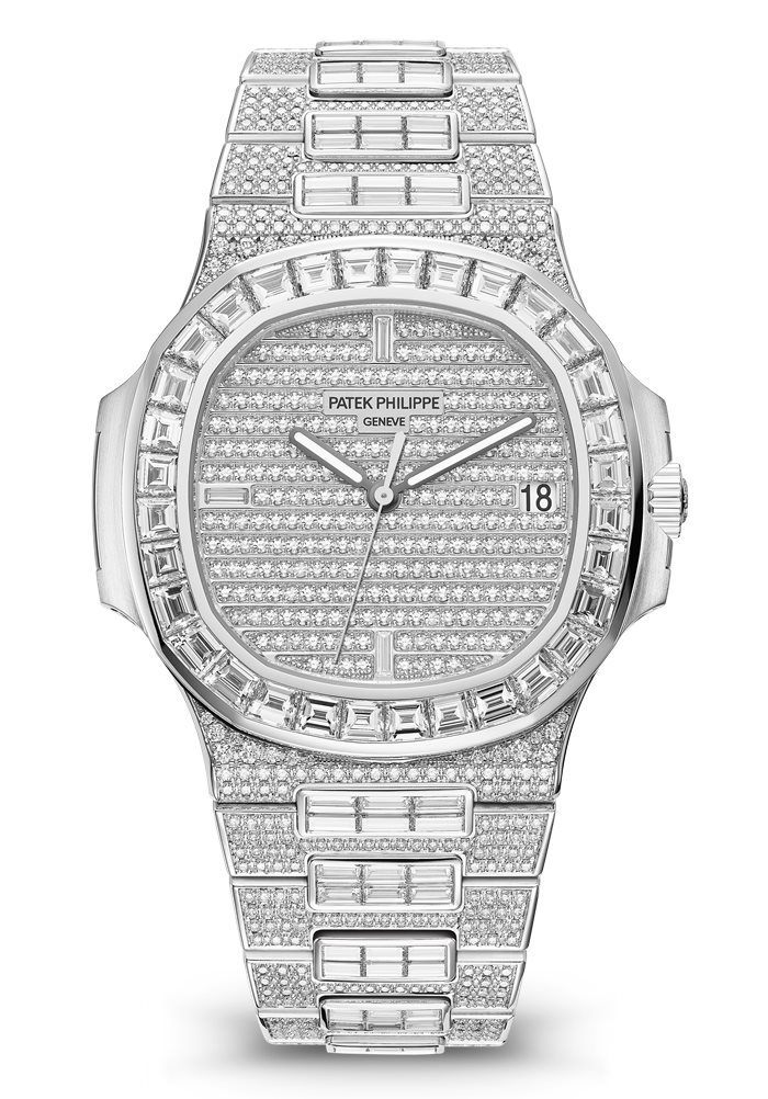 Patek Philippe Nautilus Full Diamond 5719/10G, Patek Philippe Full Diamond Watch