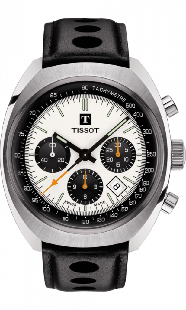 Tissot Heritage 1973, Tachymetre, Silver Face, Swiss Watch, Automatic Watch