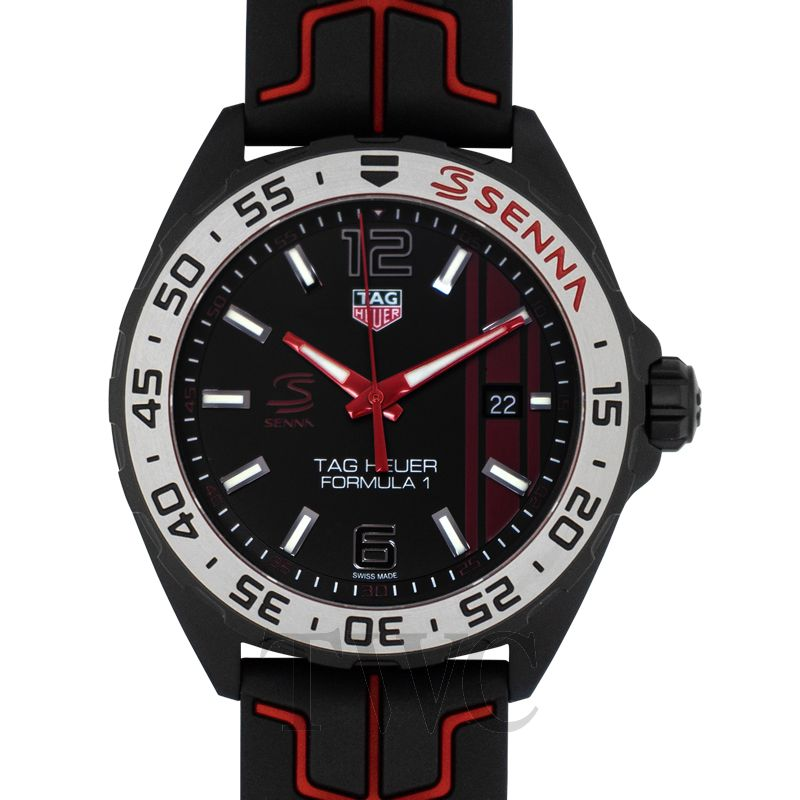 Formula 1 Grande, Scratch-resistant, Black Watch, Red, Sharp-looking Watch