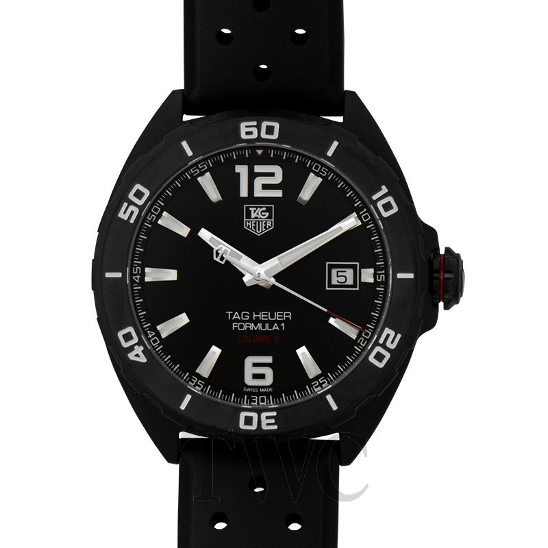 Tag Heuer Formula 1 Calibre 5, Tag Heuer Formula 1 Watches, Black Watch, Date Display, Swiss Watch