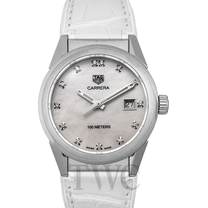 TAG Heuer Carrera Diamond Watch, Silver Watch, Luxury Watch, Elegant Watch, Beautiful Watch