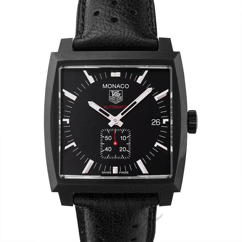 Tag Heuer Monaco, Automatic Watch, Polished Design, Steel Watch, Black Watch
