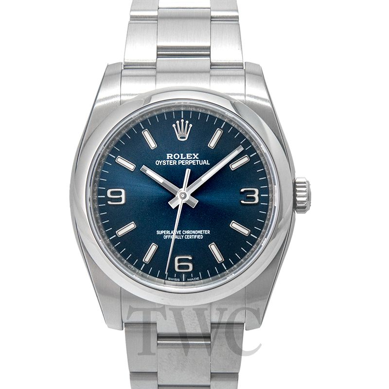 Rolex Oyster Perpetual, Analogue Watches For Women, Blue Face, Chronometre, Silver Watch, Steel Watch