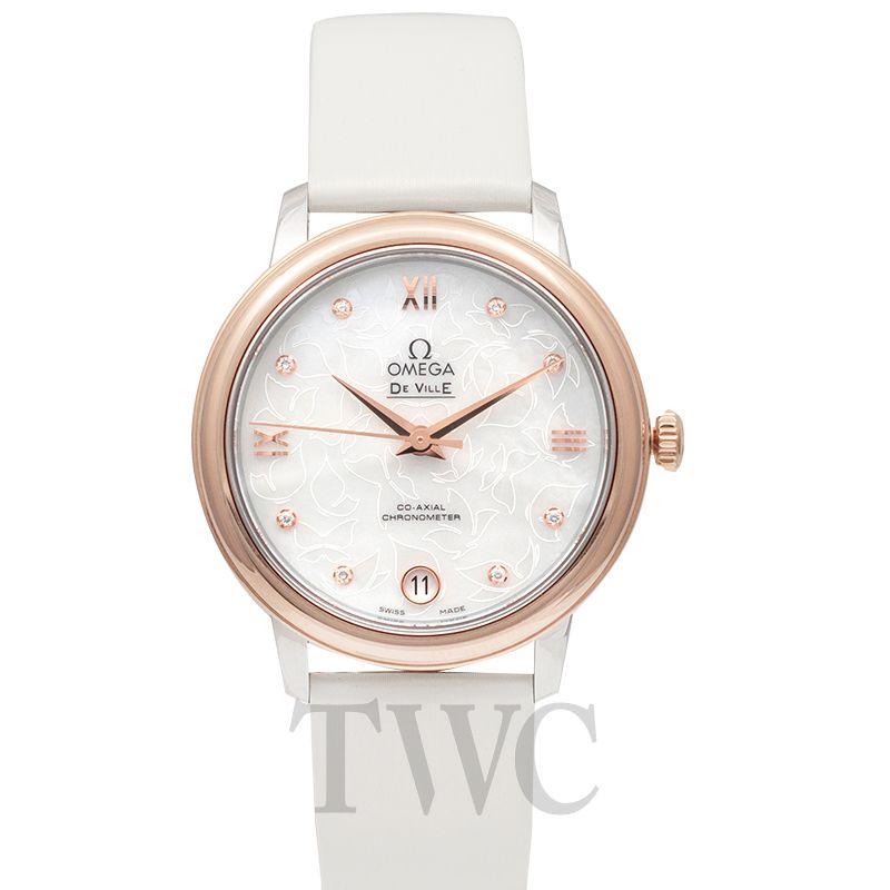 Omega De Ville Prestige Butterfly, White Watches For Women, Luxury Watch, Swiss Watch, Gold Dial