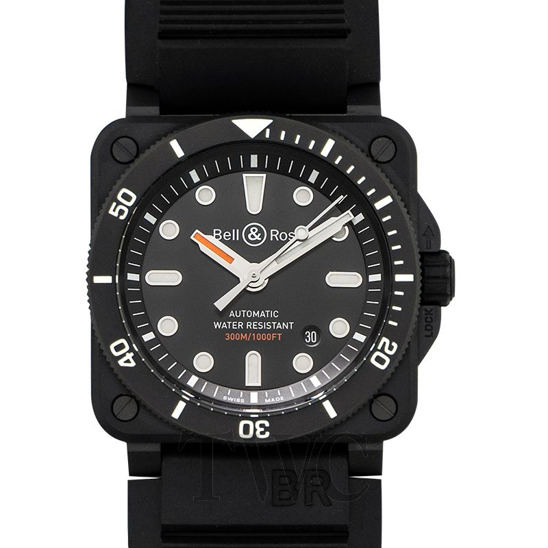 BR 03-92 Diver Black Matte, Dive Watches, Water-resistant, Black Watch, Swiss Watch, Automatic Watch