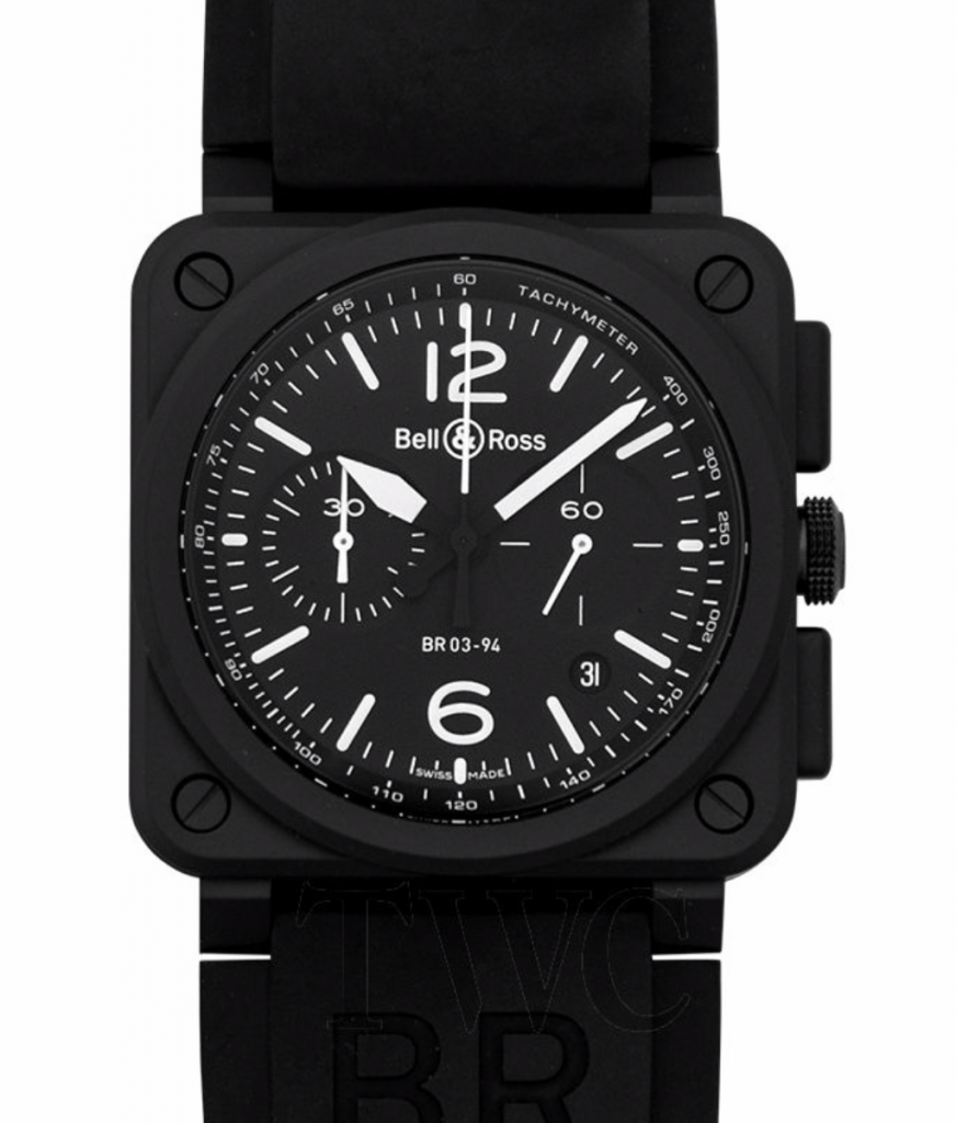 Bell & Ross Aviation Automatic Chronograph, Black Watches For Men, Swiss Watch, Tachymeter, Luxury Watch
