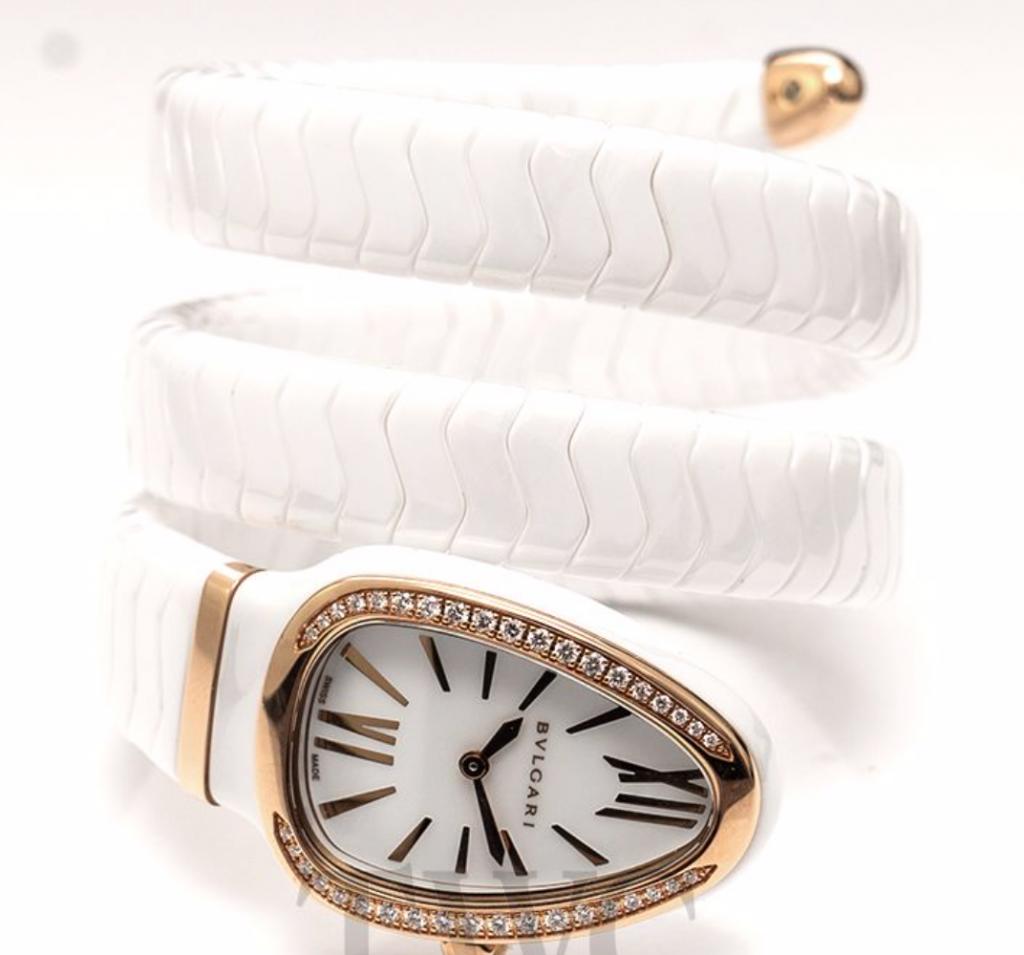 Bulgari Serpenti Spiga, White Watches For Women, Swiss Watch, Luxury Watch, Fancy Watch