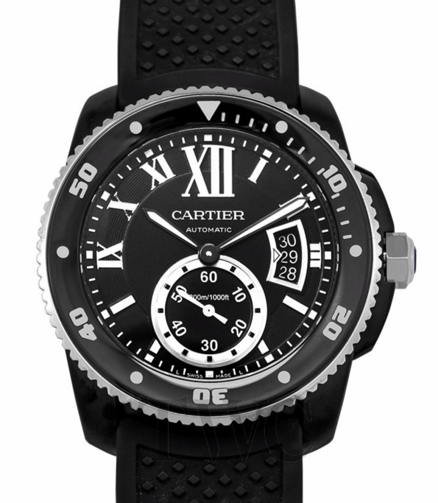 Calibre de Cartier Diver Automatic, Swiss Made Watch, Automatic Watch, Black Watches For Men, Luxury Watch