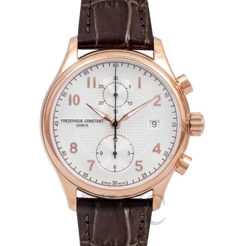 Frederique Constant FC Runabout Chrono Auto LTD Plate, Leather Watch, Swiss Made Watch, Luxury Watch, Date Display