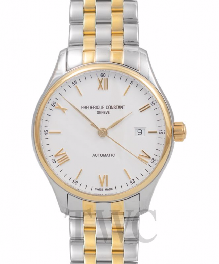 Frederique Constant Classics Index Two-Tone, Silver Watch, Swiss Watch, Date Display, Luxury Watch