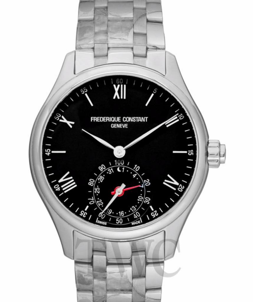 Frederique Constant Horological Smartwatch, Black Watch Face, Silver Watch, Swiss Watch, Luxury Watch