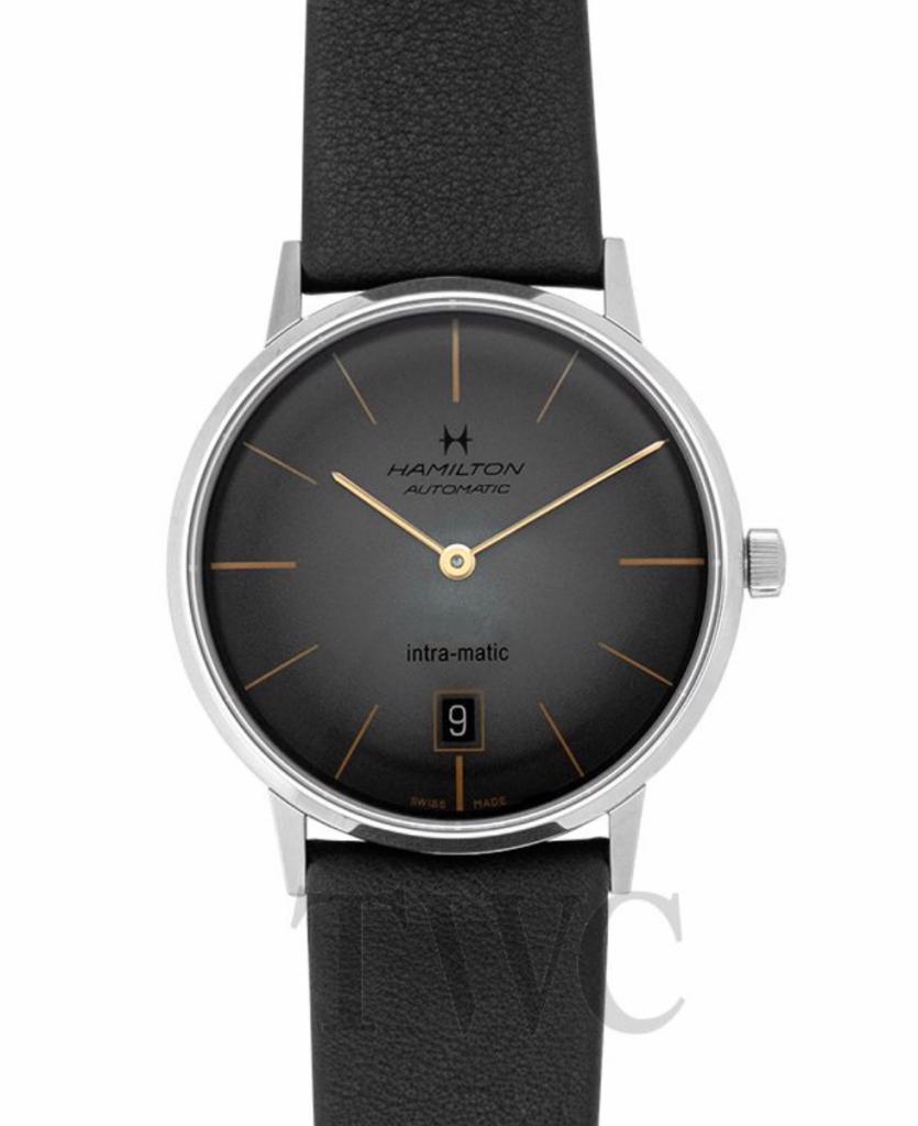 Hamilton American Classic Intra-Matic, Automatic Watch, Swiss Watch, Date Display, Black Strap