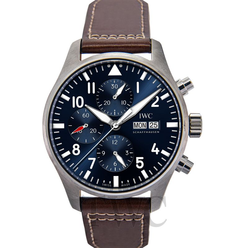 IWC Pilot IW377714, Classic Watch, Brown Watch, Dark Blue Watch Dial Face, Automatic Watch, Stylish Watch Design