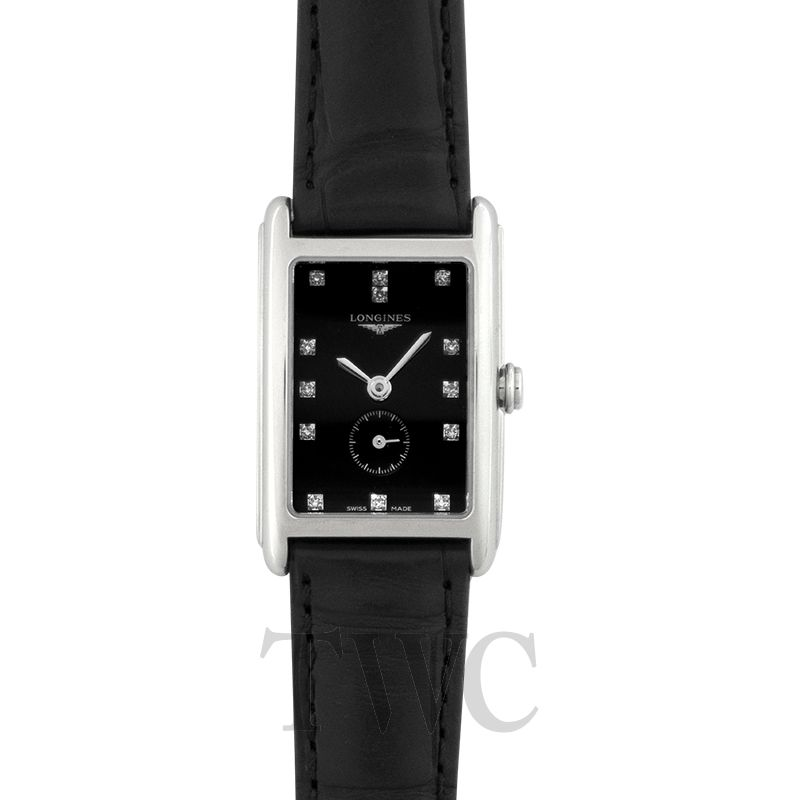 Longines DolceVita L52554570, Longines DolceVita Watches, Black Strap, Swiss Watch, Luxury Watch