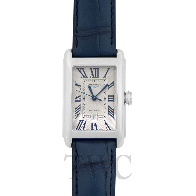 Longines DolceVita L57574719, Swiss Watch, Silver Dial, Blue Strap, Luxury Watch